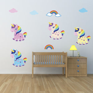 Girls Unicorn Wall Stickers - wall stickers
