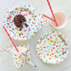 Confetti Spot Party Tableware