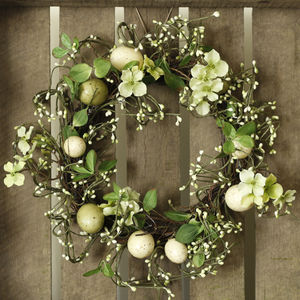 Floral Easter Wreath - outdoor decorations