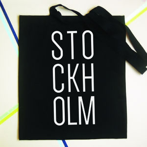 Personalised Location City Tote Bag - shoulder bags