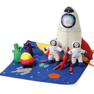 Fabric Spaceship Set - keepsakes