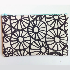 Anemone Print Canvas Zip Pouch