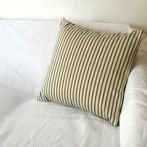 Grey Ticking Stripe Cushion Cover - cushions
