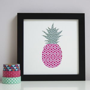 Pineapple Cut Out Artwork