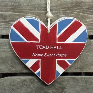 Union Jack Personalised Heart