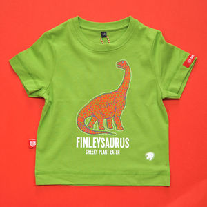 Personalised Diplodocus Dinosaur T Shirt - more