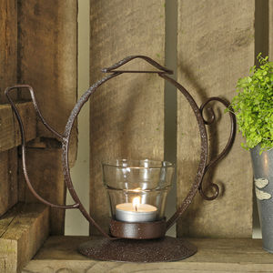 Little Teapot Tea Light Holder - lanterns