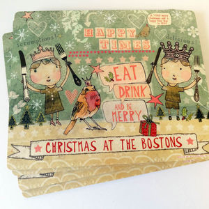 Personalised Christmas Placemats - christmas parties & entertaining