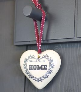 Scented Ceramic Heart Hanging Decoration