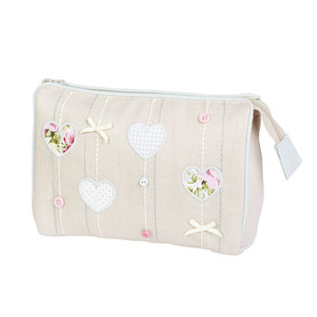 Hearts And Bows Cosmetic Bag