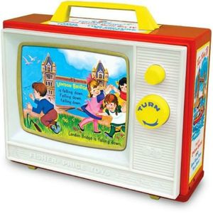 Classic Fisher Price Two Tune Television - toys & games