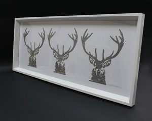 Three's A Crowd Laser Cut Stag Artwork