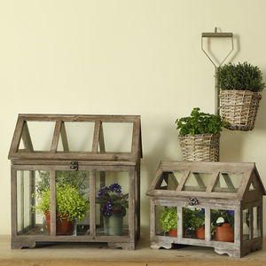 Wooden Glasshouse Plant Terrarium - art & decorations