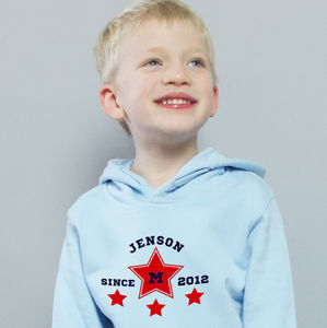 Child's Personalised Since Hoodie - children's jumpers
