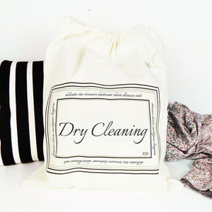 Dry Cleaning Bag With Personalised Initials - laundry room