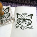 Personalised Butterfly 'Book Belongs' Stamp