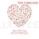 Personalised Wedding Heart Canvas Print