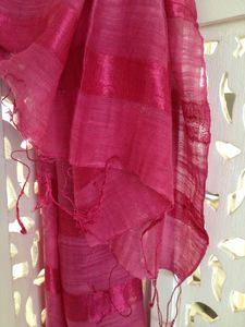 Strawberry Silk And Linen Pashmina Scarf - hats, scarves & gloves