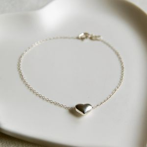 Personalised Silver Bracelet With Heart Charm - women's jewellery