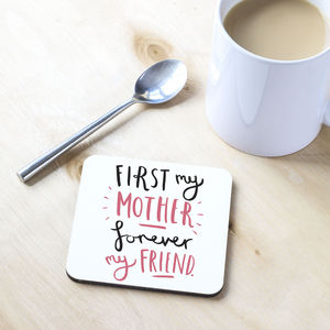 'First My' Mother's Day Coaster - placemats & coasters