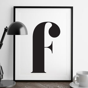 Personalised Lowercase Typographic Print