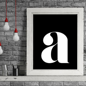 Personalised Inverse Lowercase Typographic Print - home sale
