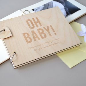 Personalised Baby Shower Guest Book - baby shower decorations