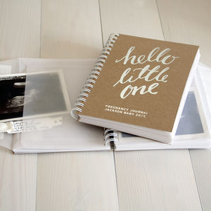 Personalised Pregnancy New Baby Memory Book - keepsakes