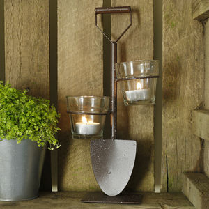 Little Spade Tea Light Holder - table decoration