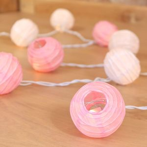 Mini Lantern Light Garland In Pink And White - weddings sale