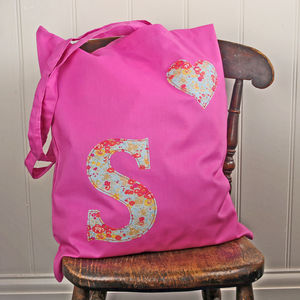 Liberty Initial Tote Bag - children's accessories