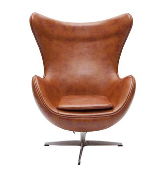 Retro Faux Leather Egg Chair