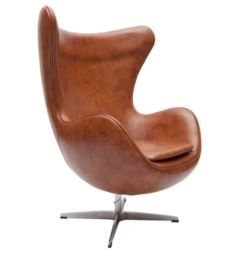retro faux leather egg chair by i love retro. Black Bedroom Furniture Sets. Home Design Ideas