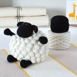 Luxury Bobble Sheep Crochet Kit - more