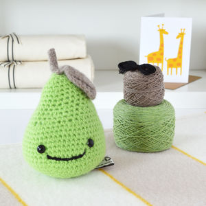 Smiley Pear Learn To Crochet Kit - creative kits & experiences