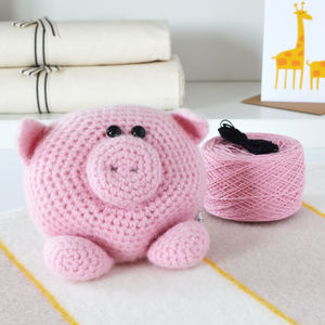 Little Piggy Learn To Crochet Kit - creative activities