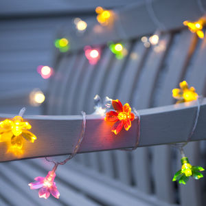 Pastel Flower Outdoor Battery Lights - fairy lights & string lights