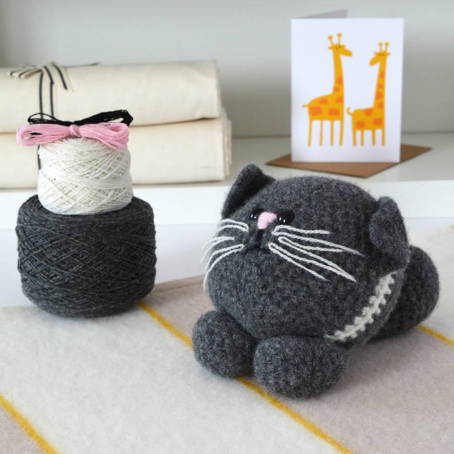 Crocheting Kit : kitten learn to crochet kit by warm pixie diy notonthehighstreet.com