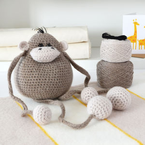 Monkey Learn To Crochet Kit - creative kits & experiences