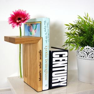 Personalised 'Vase' Book End - bookends