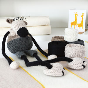 Big Mouse Learn To Crochet Kit - knitting kits