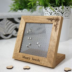 Personalised Earring Stand - jewellery storage & trinket boxes