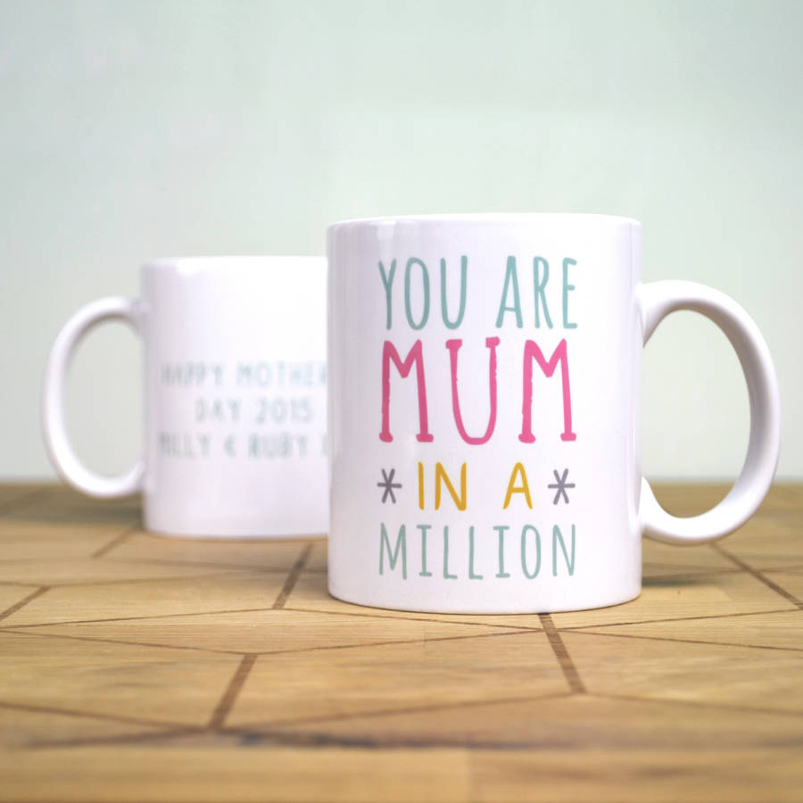 personalised 39 one in a million 39 mothers day mug by oakdene designs. Black Bedroom Furniture Sets. Home Design Ideas
