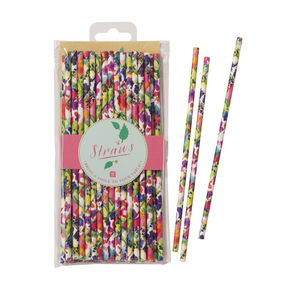 Floral Party Straws - table decorations