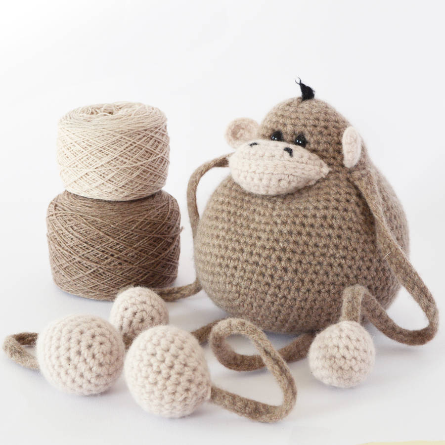 Crochet Kits : monkey crochet kit by warm pixie diy notonthehighstreet.com