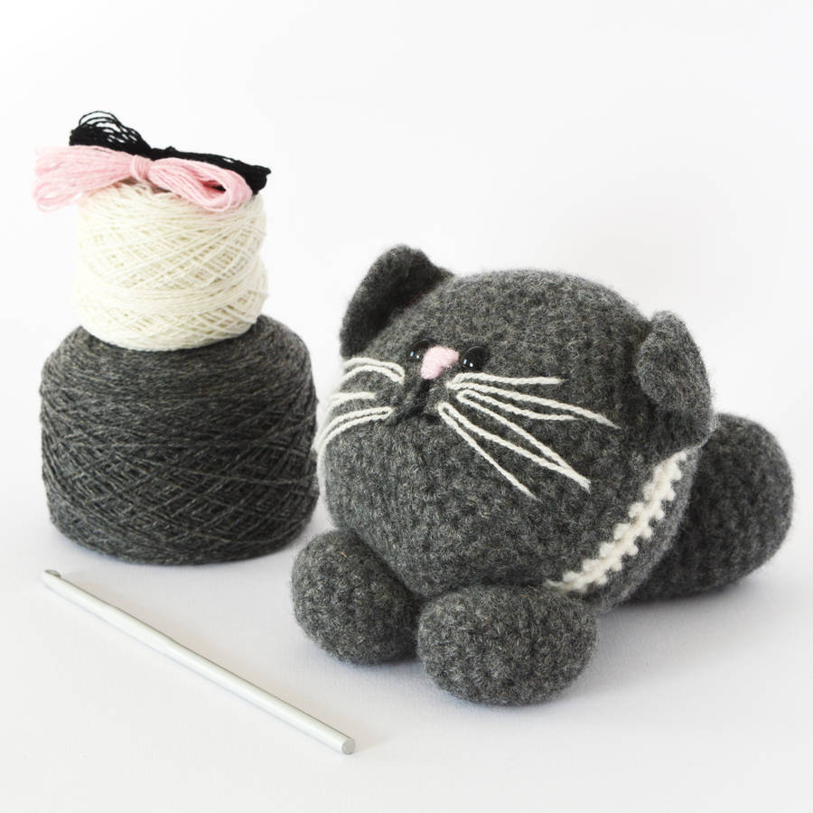 Kitten Learn To Crochet Kit By Solid And Marl Notonthehighstreetcom