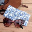 Sunglasses Case Cornflower Print