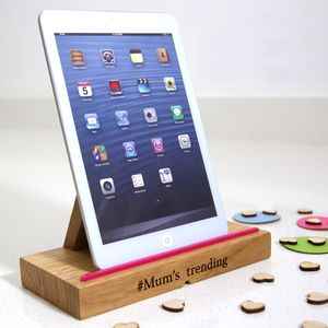 Wooden iPad Tablet Docking Stand