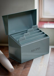 Recipe Box - storage & organising