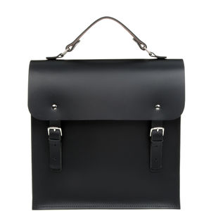 Made In England Unisex Leather Minimalist Backpack